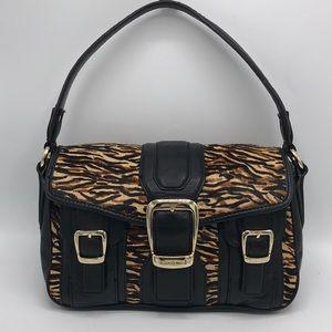 Antonio Melani Tiger Black Leather Shoulder Bag